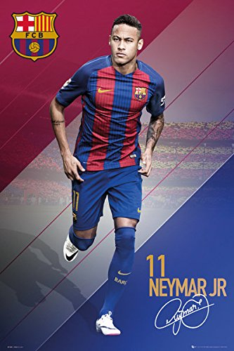 37509a613 Amazon.com  FC Barcelona - Soccer Poster   Print (Neymar Jr. In Action  11  - 2016 2017) (Size  24