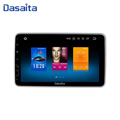 Dasaita 10.2 inch Rotatable Screen Double Din Android 9.0 Car Stereo for Any Vehicle with a Double din Slot Radio GPS 4G Ram 32G ROM Navigation Dash Kit Meomery Card: GPS & Navigation