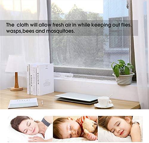 blanc 130x150cm filet de fen/être anti moustique net maille rideau en tissu protecteur moustiquaire /écran de porte moustiquaire style /ét/é
