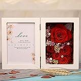 Immortal Flower Photo Frame Gift Box/Creative Gifts/Birthday,Valentine's Day,Mother Plot Presents-C