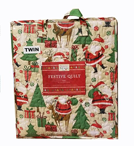 Lowest Prices! Debbie Mumm Festive Christmas Quilt Twin Size 68 x 86