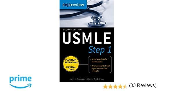 usmle step 1 deja review john h naheedy daniel orringer amazoncom books