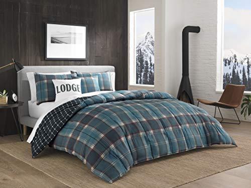 Eddie Bauer Cattle River Multi- Piece Comforter Set, King, Blue