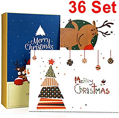 christmas cards cards boxed36 cards holder christmas holidays money greeting cards christmas cards assortment pack versed inside with 36 white envelopes