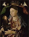 'Antonello Da Messina - The Virgin And Child,about 1460-9' Oil Painting, 8x10 Inch / 20x26 Cm ,printed On High Quality Polyster Canvas ,this High Quality Art Decorative Prints On Canvas Is Perfectly Suitalbe For Kitchen Artwork And Home Decoration And Gifts