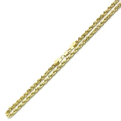 14K Yellow Gold Chain 8mm Solid Rope Chain Necklace 24 26 Inches