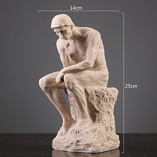 (WEIWEI Creative figures sandstone sculpture crafts, Home decorations Creative living room office decoration-A)