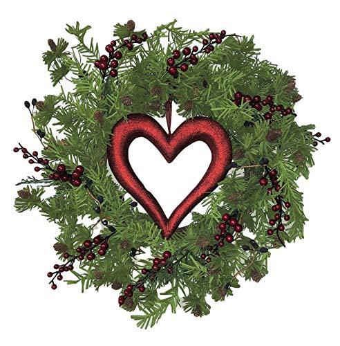 Berry Heart Wreath - Flora Decor Valentines Berry Heart Wreath