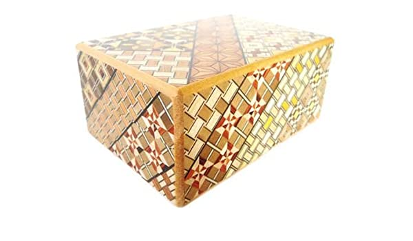 Yosegi japonés Puzzle Box 4-dom 14 Mueve Color: 14 Se mueve Tamaño ...
