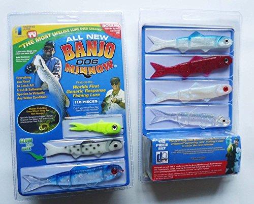 FidgetGear New Banjo 006 - Juego de Señuelos de Pesca de plástico Suave