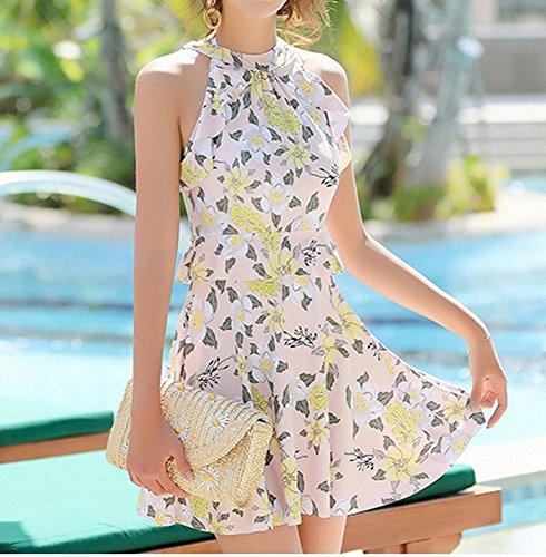 intero Rosa da bagno con e pulito costume Skirt da donna XXL Costume Swimsuit in acciaio HOMEE Beach bordo HwgaqxBZAy