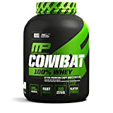 MusclePharm Combat 100% Whey – 25Gs of a Ultra-Premium, Gluten-Free, Low Fat Blend of Fast-Digesting Whey Protein for Performance, Recovery, and Muscle Building, Vanilla, 5 Pound, 73 Servings
