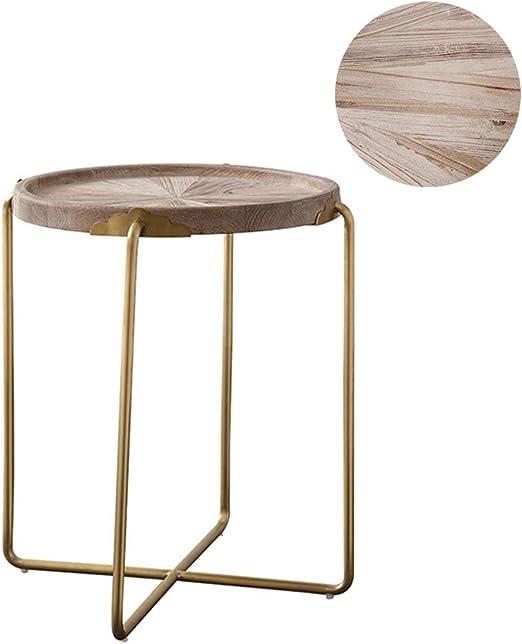 mesas de Centro Modernas Mesa de Centro Redonda de Roble Natural ...