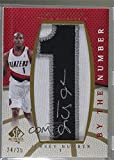 Jarrett Jack #24/25 (Basketball Card) 2007-08 SP Authentic - By the Number Manufactured Patch Autographs - Jersey Number [Autographed] #BN-JJ