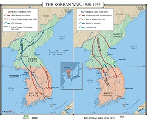 Amazon.com: Korean War, 1950-53 (World History Wall Maps ...