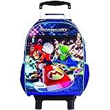Mala Escolar G com Rodinhas Nintendo Super Mario, 11525, DMW Bags
