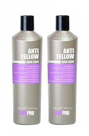 Kepro Kay Pro No Yellow Anti Silver Shampoo 350 ml Each Double Pack 2x 700  ml 6f320049d862