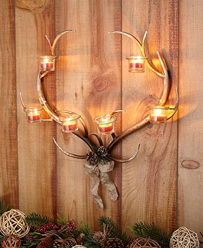 The Lakeside Collection Antler Tealight Wall Sconce -