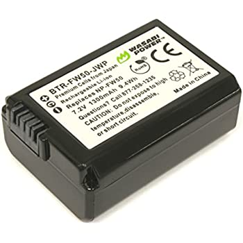 Wasabi Power Battery for Sony NP-FW50 (Compatible with Alpha a7, a7 II, a7R, a7R II, a7S, a7S II, a5000, a5100, a6000, a6300, a6500, NEX-5T, Cyber-shot DSC-RX10 III and more)