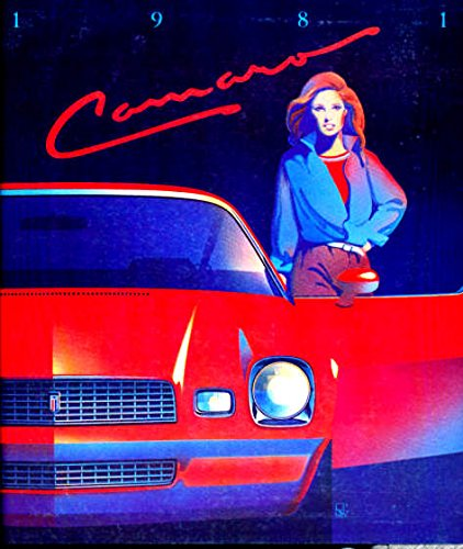 BEAUTIFUL ORIGINAL 1981 CHEVY CAMARO DEALERS SALES BROCHURE - Includes Sport Coupe, Berlinetta Coupe, Z28 Coupe. Shows Engines, Transmissions, Colors, Accessories, Features, Stereos, Options, Interior, Specifications, etc..All Models Chevrolet Camaro Sales Brochure