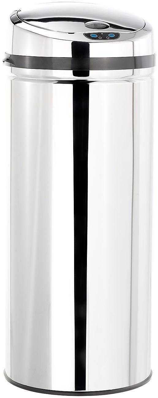 infactory Abfalleimer elektrisch: Abfalleimer mit Hand Bewegungssensor, 42 Liter (Elektronischer Mülleimer)