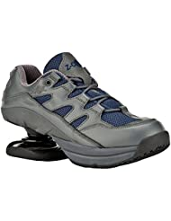 Z-CoiL Pain Relief Footwear Mens Freedom Slip Resistant Navy Leather Tennis Shoe