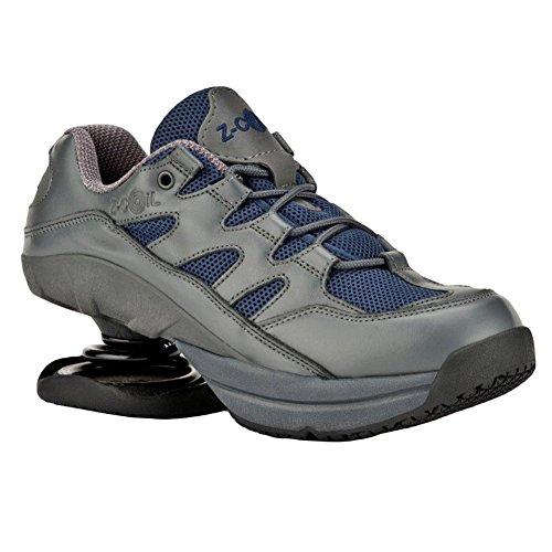 Z-CoiL Men's Freedom Slip Resistant Navy Leather Tennis Shoe 12 E US FW-K1007