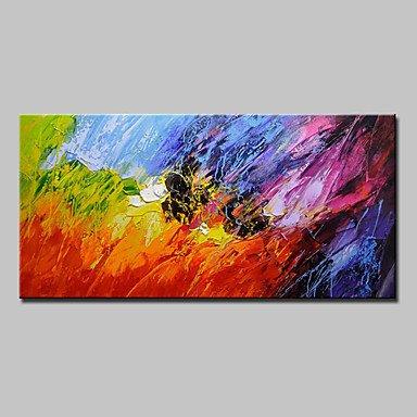 XHL Art Handgemalte Abstrakt Horizontal,Modern Europäischer Stil Ein Panel Leinwand Leinwand Leinwand Hang-Ölgemälde For Haus Dekoration , 24  x 48  B07888GHB5   Zürich Online Shop  80c9d1
