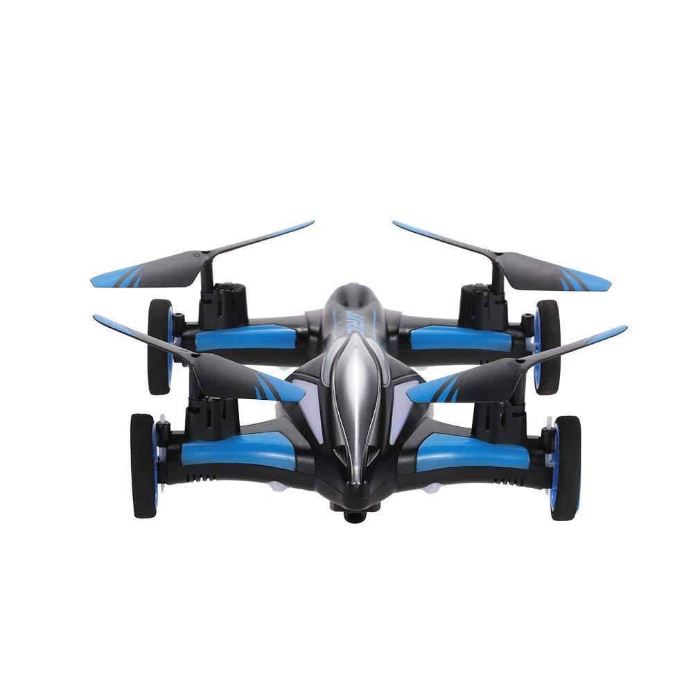 DUCKTOYS RC Drone, Tierra/Cielo 2-en-1 avión giroscopio de 6 Ejes ...