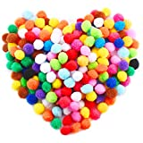 Caydo 240 Pieces 1 Inch Assorted Pom Poms for DIY Creative Crafts Decorations  Features:  Gift for childrens and adult who enjoys doing this wonderful art form  Share your creations with friends and loved ones You can find more fun with your ...