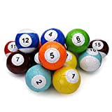 Electric Magic 19 Pcs Gaint Snookball Snook Ball Snooker Street Soccer Ball Game Huge Billiards Pool Football Sport Poolball Size 2