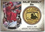 "Justin Upton ""MLB Debut Medallion - Commemorative Coin"" Special Insert Collectible Baseball Card - 2016 Topps Baseball Series #MDM-JU (Arizona Diamondbacks) Free Shipping"