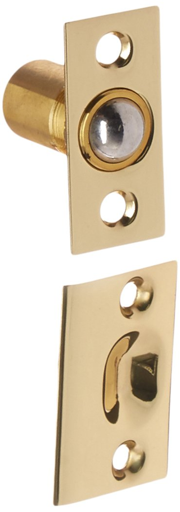 Baldwin Estate 0426.030 Solid Brass Adjustable Ball Catch in Polished Brass, 1.37''x2.12''