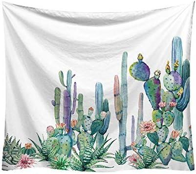 De toalla cactus blanco negro