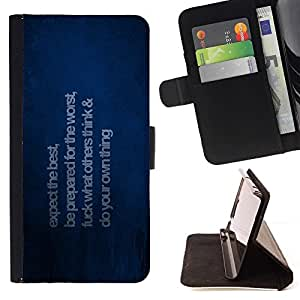 Momo Phone Case / Flip Funda de Cuero Case Cover - Esperamos lo mejor;;;;;;;; - Motorola Moto E ( 2nd Generation )