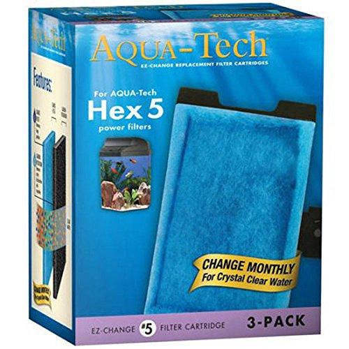Aqua Tech Hex 5  5 Ez Change Aquarium Replacement Filter Cartridge By Aquatech