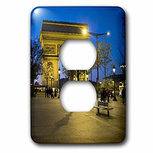 (3dRose lsp_81424_6 Arch Of Triumph, Paris, France Eu09 Dbn0547 David Barnes 2 Plug Outlet Cover)