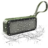Wireless Bluetooth Speaker,Portable Bluetooth Speaker with Stereo HD Audio and Enhanced Bass,MIC Card,Handsfree Calling,FM Radio,Beach Radio and waterproof bluetooth speaker (Army Green)