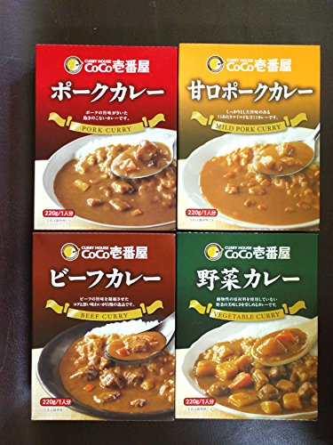 Japanese Curry - CoCo Ichibanya Curry House, curry mix (pack of four) (Original Version)