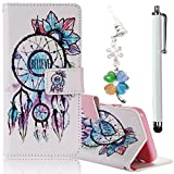 Samsung Galaxy Grand Prime G530 Case, Boince 3 in 1 Accessory Book Style Magnetic Snap PU Leather Flip Wallet Case + [Diamond Antidust Plug] + [Metal Stylus Pen] Anti Scratch Shockproof Full Body Skin Cover Protective Bumper-Tassels