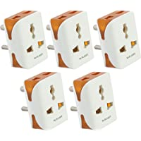 Hi-PLASST 3PIN Modular Travel Universal Multiplug(5Pcs),Worldwide Adaptor,Socket Connector-5pcs