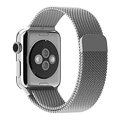 Apple Watch Band, Designed Strong Magnetic Closure Clasp Mesh Loop Milanese Stainless Steel Bracelet Strap for Apple iWatch Sport