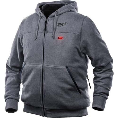 Milwaukee Hoodie M12 12V Lithium-Ion Heated Jacket Front and Back Heat Zones All Sizes and Colors - Battery Not Included - (Large, Gray) by Milwaukee