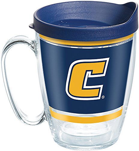 (Tervis 1272103 Tennessee Volunteers Legend Insulated Tumbler with Wrap and Navy Lid, 16oz Mug, Clear)