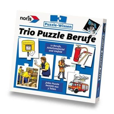 Noris 6033440 Trio-Puzzle Berufe
