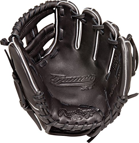 "Rawlings Gamer Series Training Glove, Black, 9.5"", Worn on Left Hand"