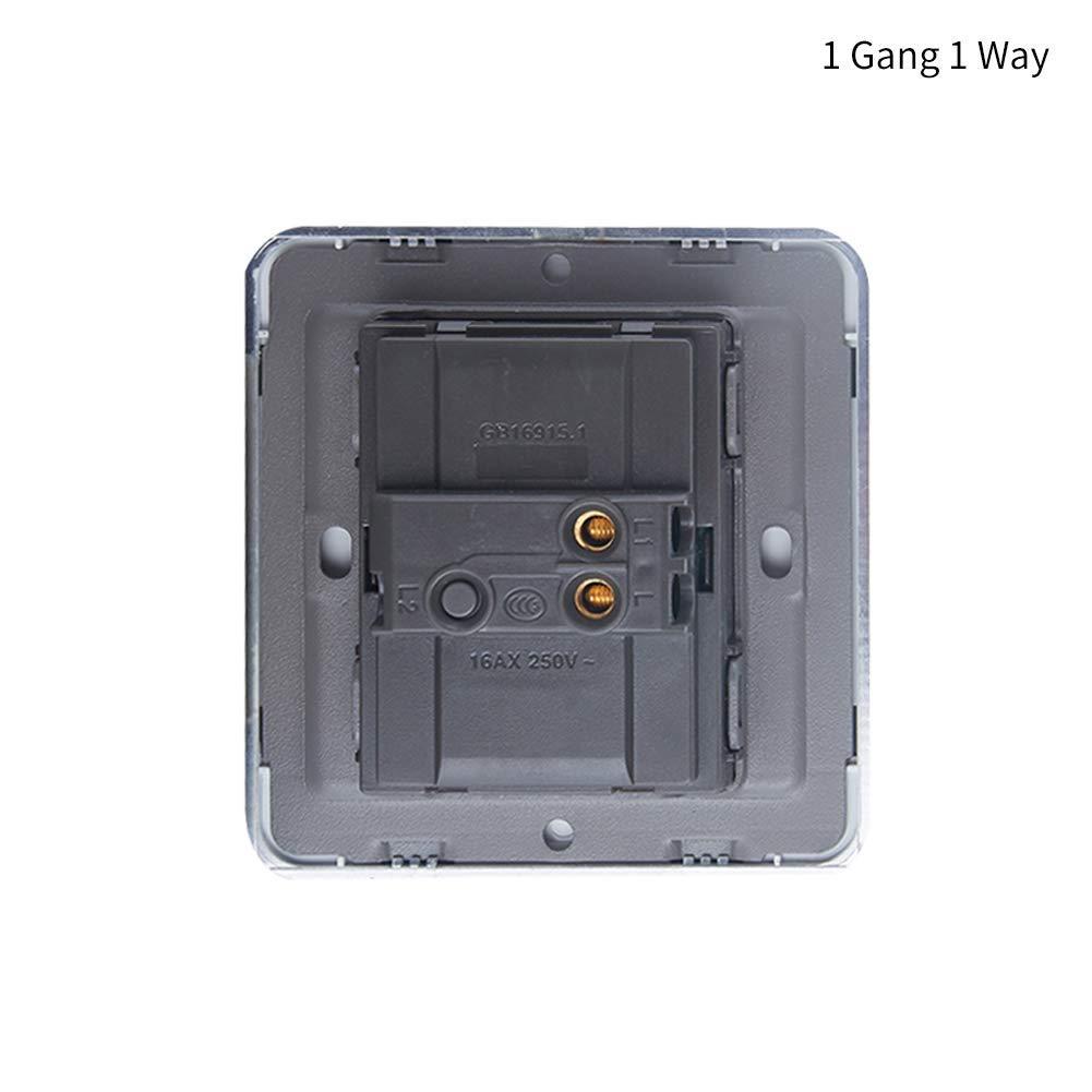 xiegons0 Inteligente Interruptor de Contacto LED Inteligente Espejo Toque Interruptor de Pared 250V 1//2//3 Toma con Visi/ón Nocturna Fluorescente para Dormitorio Ba/ño Cuarto de Estar Cocina