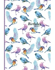 Birthday Book: A Date Keeper and Birthday Reminder Organiser Notebook – Bird Watercolour Drawing
