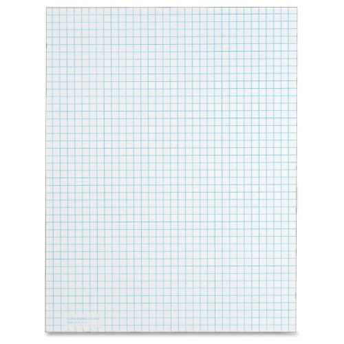 TOPS TOP3314 Quadrille Pad, Gum-Top, 8-1/2 x 11 Inches, Quad Rule , White Paper, 50 Sheets per Pad 12 Pack(3314) by Tops