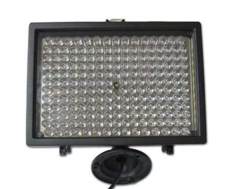 CMVision-IR200 - 198 IR LED Night Indoor/Outdoor Long Range 300ft IR Illuminator w/ FREE 12V Power Adapter ( Up & Down Position Adjustment only) (Ir Range)
